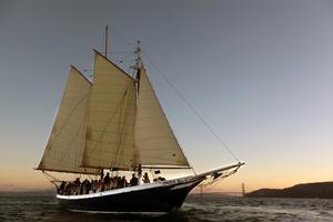SF Bay Friday Sunset Sail Autumn 2014