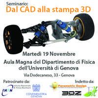 """""""Dal CAD alla stampa 3D"""" - Seminario GRATUITO..."""