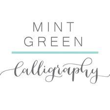 Mint Green Calligraphy logo
