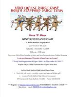 WINTERFEST DANCE CAMP -  LED BY: NORTH STAFFORD DANCE TEAM