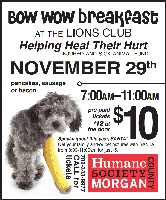 2013 Bow Wow Breakfast to Help Heal their Hurt!