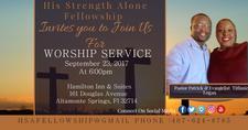 His Strength Alone Fellowship  logo