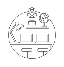 Co-work by OP Lab logo