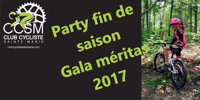 Party de fin de saison - AGA - Gala Méritas MTB 2017