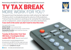 TV TAX BREAK: MORE WORK FOR YOU?
