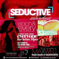 Seductive Saturdays at Club Maxwell City