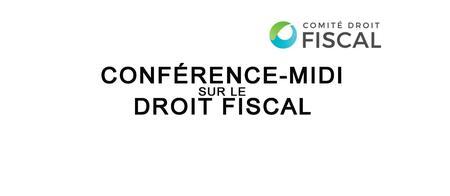 Conférence-Midi sur le Droit Fiscal