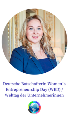 Heléne Rhodin-Shillingford, Deutsche Botschafterin Women´s Entrepreneurship Day logo