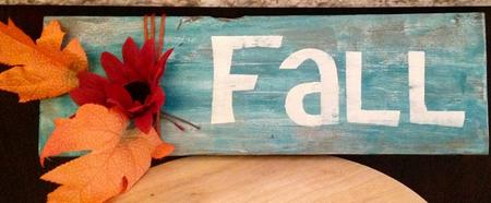 Up-cycled Fall Wood Sign