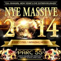 NYE Massive 2014 Parc 55 Wyndham Hotel Union Square San Francisco
