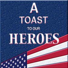 """The Board and friends of """" A Toast To Our Heroes """"  logo"""