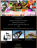 Publicity Tour (Videographers, Photographers, R&B/POP...