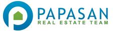 Wendy and Jay Papasan with Papasan Properties Group logo