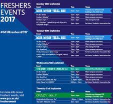 GCU Freshers' Week (SEPT 2017) logo