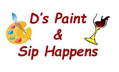 D's Paint & Sip Happens logo