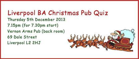 Liverpool BA Christmas Pub Quiz 2013