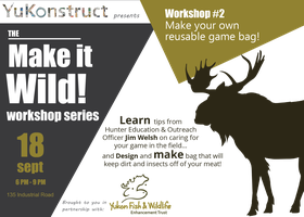 MAKE IT WILD! #2 Make your own reusable game bag!