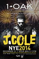 J. Cole Celebrates NYE at 1 OAK Nightclub