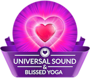 Universal Sound and Blissed Yoga logo