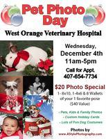 Pet Photo Day @ West Orange Veterinary Hospital Dec 4th