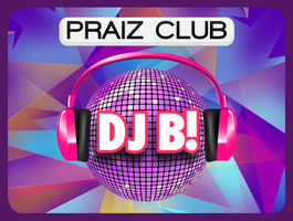 PRAIZ CLUB CHRISTMAS PARTY feat. DJ B!, live acts, gospel/Christian music + DJ B!'s CLUB logo
