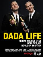 DADA LIFE  | Friday 8.31 | Boulder Theater (Boulder,...