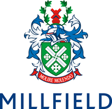 Meyer Theatre, Millfield School logo