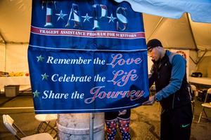 Team TAPS at Marine Corps Marathon: Finish Line Tent...