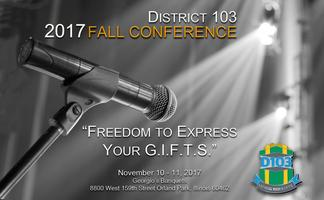 District 103 Toastmasters 2017 Fall Conference