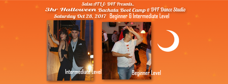Halloween Bachata Boot Camp Atlanta Beg & Int Level + Halloween party Sat Oct 28th