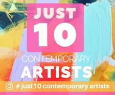 JUST 10 Contemporary Artists logo
