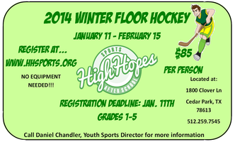 High Hopes Sports & Afterschool Youth Winter Floor Hockey