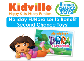 Kidville's Second Chance Toys FUNdraiser & Toy Drive!