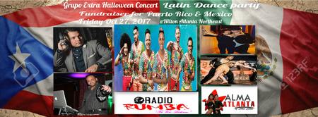 Grupo Extra Concert Halloween Party Atlanta  Fundraiser 4 Puerto Rico & Mexico