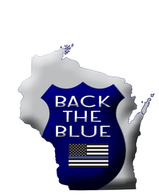 Back The Blue Wisconsin  logo