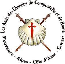 Association des Amis des Chemins de Saint-Jacques de Compostelle et de Rome PACA-CORSE logo