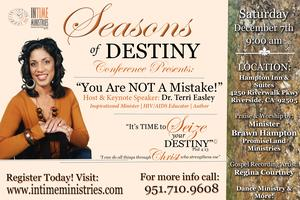 """Seasons of Destiny Conference Presents  - """"You Are Not..."""
