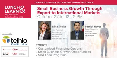 Lunch and Learn: Small Business Growth Through Export...