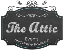 The Attic Events and Home Treasures logo