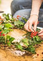 Christmas wreath-making workshop