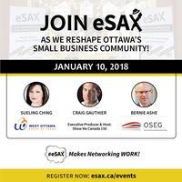 January 10, 2018 eSAX (The Entrepreneur Social Advantage Experience) Ottawa Networking Event