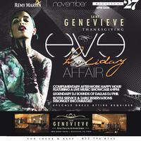 THANKSGIVING EVE HOLIDAY AFFAIR @ SAINT GENEVIEVE