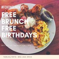 BRUNCH SUNDAY'S FROM 2-6PM @FOX HOLLOW