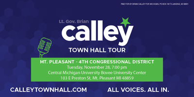 Lt. Gov. Brian Calley- Mt. Pleasant 'All Voices All...