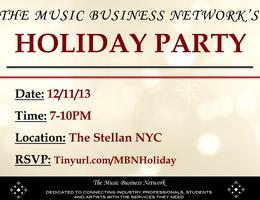 The Music Business Network's Holiday Party &...
