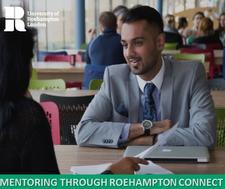 Mentoring and Volunteering Team; Department of Alumni, Development and Careers; University of Roehampton logo
