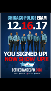 """Chicago Police Department """"Be The Change"""" Recruitment  logo"""