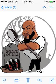 "Damian ""Grave Digga"" Harris logo"
