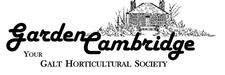 Garden Cambridge your Galt Horticultural Society logo