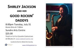 Shirley Jackson performing at the Sundre Arts Centre